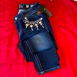 Miss Me signature ankle skinny jeans